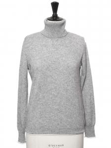 Pull col roulé en cachemire gris clair Prix boutique 260€ Taille 36/38