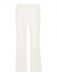 Pantalon évasé BEDFORD en crêpe blanc ivoire Prix boutique $560 Taille 38