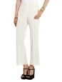 BEDFORD ivory white crepe flared pants Retail price $560 Size 38