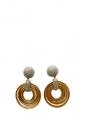 Boucles d'oreille clip anneaux et cercles en laiton doré et crystal argent Prix boutique $800