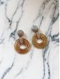 Boucles d'oreille clip anneaux et cercles en laiton doré et argenté