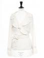Veste légère ceinturée en soie ivoire Prix boutique 850€ Taille 38