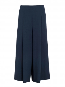 Loja cropped navy blue stretch-cady wide-leg pants Retail price €1590 Size 34