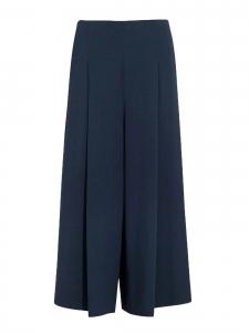 Loja cropped navy blue stretch-cady wide-leg pants Retail price €1590 Size 34