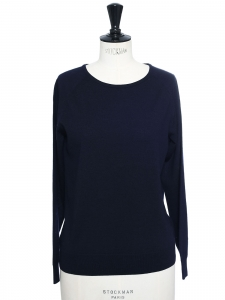 Navy blue merinos wool turtleneck sweater Retail price $545 Size S