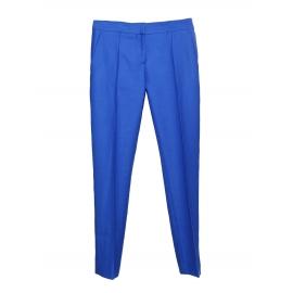 Pantalon slim fit à pli en piqué de laine bleu roi Px boutique $560 Taille 34
