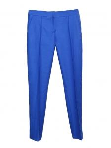 STELLA MCCARTNEY Royal blue wool piqué slim fit pants Retail price $560 Size 34