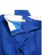 STELLA MCCARTNEY Pantalon slim fit à pli en piqué de laine bleu roi Px boutique $560 Taille 34