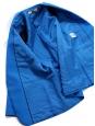 Veste blazer ELLIOT classique en laine et soie bleu roi Px boutique $1095 Taille 36