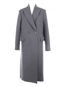 Dark grey wool double breasted long coat Retail price €1200 Size 36/38