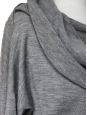 Heather grey wool and cashmere long sleeved sweater dress Retail price €700 Size 36