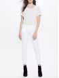 Jean blanc slim fit Looker ankle fray sweet talk me Prix boutique 290€ Taille L (30)