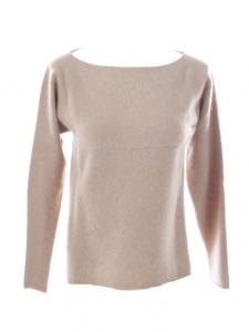 Beige cashmere wool round neckline sweater Retail price €1050 Size 36