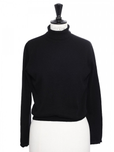Black cashmere wool turtleneck sweater Retail price €550 Size 36