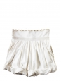 Rare white silk shorts from the summer 2009 fashion show Size 38