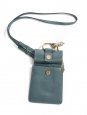 Light blue python and leather FAYE BRACELET mini bag Retail price $1290