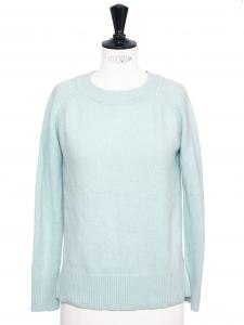 Pull col rond en cachemire bleu clair Prix boutique 890€ Taille S