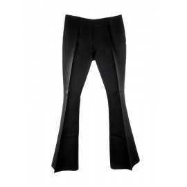 MELLO black silk organza flared pants Retail price $350 Size 40