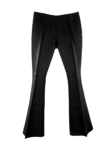 MELLO black organza flared pants Retail price $350 Size 40