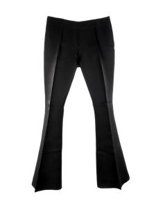 Pantalon MELLO flared évasé en organza noir Prix boutique $340 Taille 40