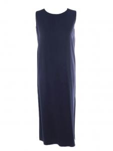 LANI midi length sleeveless navy blue crepe dress Retail price €1225 Size XS to S