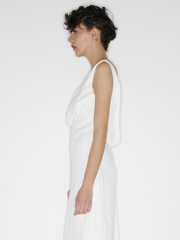 Robe de mariée dos nu en soie blanche Px boutique 2000€ Taille 36 ...