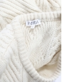 Round neckline ivory white wool pompon sweater Retail price €175 Size 36