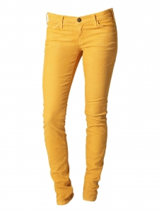 Amber yellow cotton slim fit jeans Retail price €170 Size XS