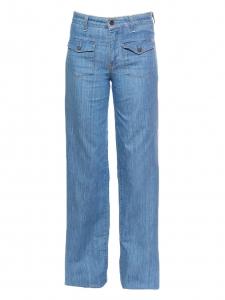 Light denim blue wide-leg flare jeans Retail price €220 Size 36