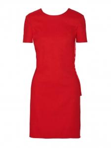 Robe shantung courte dos nu avec noeud rouge vif Prix boutique 1860€ Taille 38