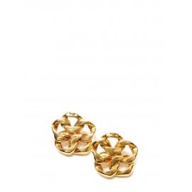 Gold-tone copper flower clip earrings Retail price €700