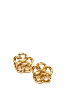Gold-tone Greek hoop earrings Retail price €1400