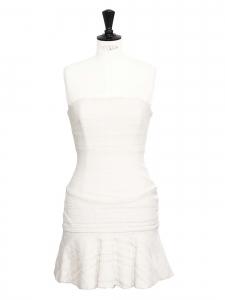 Robe bustier en dentelle blanche Px boutique 2600€ Taille S