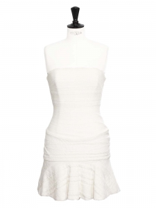 White lace strapless dress Retail price 2600€ Size 36