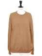 Camel beige cashmere round neck sweater Retail price €420 NEW Size L