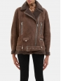 ACNE STUDIOS VELOCITE More she sue chocolate brown shearling jacket Retail price €2400 Size 34 to 38