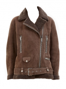 ACNE STUDIOS Manteau shearling More she sue en laine retournée marron chocolat Prix boutique 2300€ Taille 34 à 38