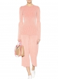 Pull col rond en maille rose Prix boutique 750€ Taille 34