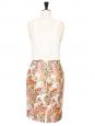 Jupe crayon imprimé Garden floral rose, vert, jaune, blanc Px boutique 500€ Taille 36/38