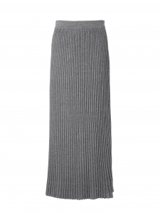 RENNA Dark grey pleated knitted maxi skirt Retail price $375 Size Xs