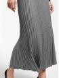 RENNA Dark grey pleated knitted maxi skirt Retail price $375 Size Xs
