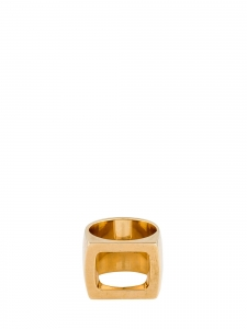Golden brass open signet ring Retail price €230 Size 54