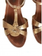 Sandales plates bride cheville en cuir doré Prix boutique 550€ NEUVES Taille 36