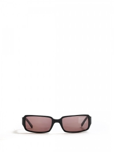 Black thin rectangular sunglasses Retail price €300