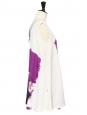 CHLOE Purple printed white silk dress worth €1800 Size 36