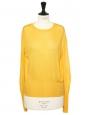Round neckline sunflower yellow knit sweater Retail price £240 Size 36