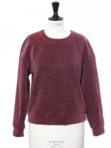 Round neckline pink and black glitter sweater Size 38