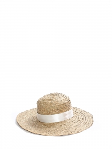 Large light beige straw sunhat