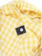 Robe sans manches en coton vichy à carreaux jaunes et blancs Px boutique 250€ Taille 36