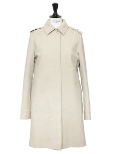 Manteau fin en coton et soie beige Prix boutique 1300€ Taille 38